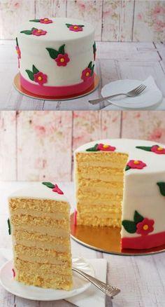 Virágos vaníliás torta recept - Kifőztük, online gasztromagazin Vanilla Cake, Food And Drink, Sweet, Candy
