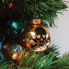 @Overstock.com.com - Create a unique Christmas tree this year with these rock n' roll skull ornaments. Combine your two favorite holidays when your add a bit of Halloween magic to your Christmas decor with these festive ornaments. http://www.overstock.com/Home-Garden/Rock-n-Roll-Skull-Ornaments-Pack-of-4/6156921/product.html?CID=214117 $16.99