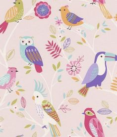 293012 - Rasch Kids Wallpaper with bird motif in rose of the collection Kids & Teens II. Order wallpaper for kids online and cheap Pink Wallpaper For Girl, Kids Room Wallpaper, Bird Wallpaper, Paper Wallpaper, Bedroom Wallpaper, Wallpaper Desktop, Kindergarten Wallpaper, Special Wallpaper, Bird Theme