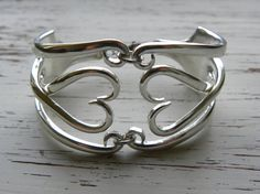 Fork tine bracelet  twisted fork tines  by WhisperingMetalworks, $45.25