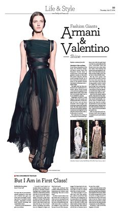 Fashion Giants Armani and Valentino Shine|Epoch Times #newspaper #editorialdesign