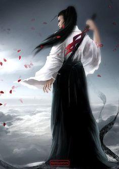 The Blind Ninja: Photo Female Samurai, Samurai Art, Fantasy Warrior, Fantasy Art, Kawai Japan, Kung Fu Martial Arts, Fantasy Pictures, Graphic Design Studios, Aikido