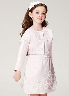 Vestito da ragazza di fiore di champagne Vestito da abito di linea con  gonna di applique di perline a fiori eab44989bca