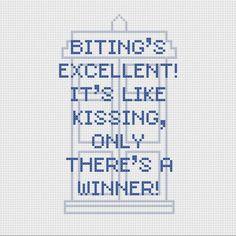 Doctor Who Idris/Tardis quote cross stitch PDF pattern. £2.30, via Etsy.