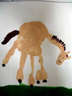 Kindergarten handprint horses.