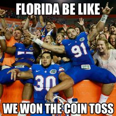 Only time they win lol Florida Gator Memes, Florida Gators College, Florida State Football, Florida State University, Florida State Seminoles, Gators Vs Seminoles, College Football Memes, Football Stuff, Funny Adult Memes