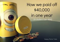 A summary of how we paid off $40,000 in student loan debt. Paying off student loans are not easy, but here are a few ideas of how you can.
