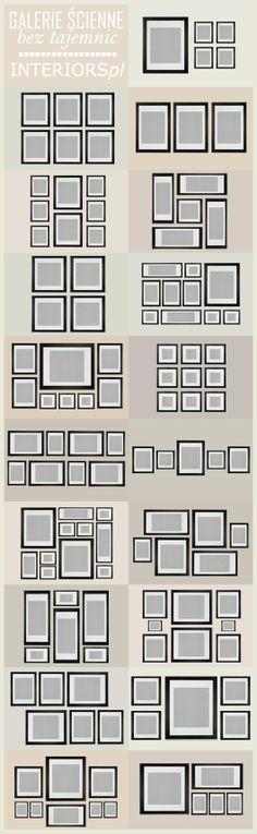Various wall frame arrangements
