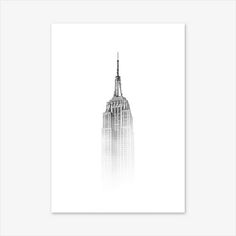Empire State Building Print Cityscape Print New York Print