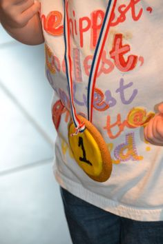 Olympic biscuit medals