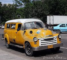 Classic Yellow And White Cuban Taxi  I like to pay homage to the Yellow taxis of the world and other cars , that happen to be yellow ! https://www.linkedin.com/pulse/finallyhere-jan-ovland - enjoy ! - janovland@gmail.com