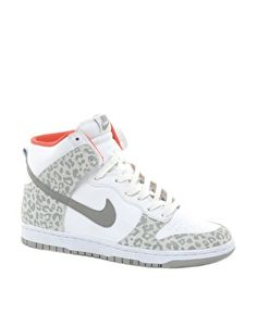 Nike Dunk Grey Leopard High Top Trainers