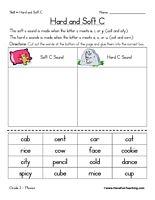 Hard C and Soft C Worksheet - Have Fun Teaching