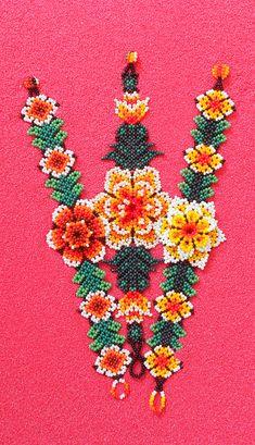 Beaded Bracelet Patterns, Beaded Earrings, Beaded Jewelry, Handmade Jewelry, Beaded Bracelets, Mexican Art, Beading Tutorials, Beaded Flowers, Bead Art