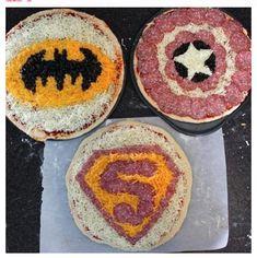 Superhero pizza for @Jody Rieck Rieck Rieck Phillips Hank's party