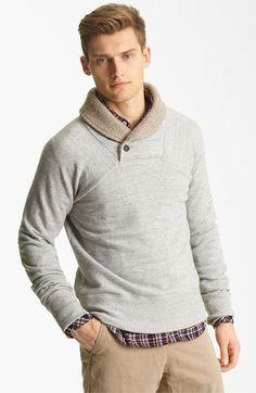Billy Reid 'Jackson' Shawl Collar Sweatshirt available at @Nordstrom - $195.00