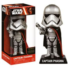 This is the Star Wars Force Awakens Wacky Wobbler Captain Phasma Bobble Head Figure that is produced by Funko. Star Wars fans are super excited for The Force Awakens and it's great to see that the mer Bob Ross, Star Wars Episodio Vii, Gwendolyn Christie, Vinyl Figures, Action Figures, Wacky Wobbler, Star Wars Shop, Episode Vii, Funko Pop Star Wars