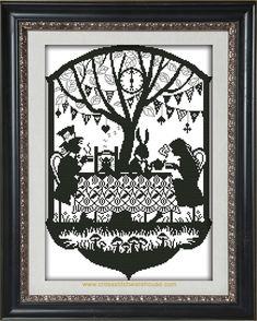 Needlecraft and crossstitch patterns Mad Hatter Tea, Mad Hatters, Fantasy Cross Stitch, Book Characters, Tea Party, Crafty, Crochet, Pattern, Patterns