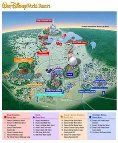 Walt Disney World Monorail Expansion Map. | Disney in 2018 ...