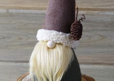 """NORGRIM the WANDERER Nordic Forest Gnome 10"""" Tall, Collectible Fiber Art…"""