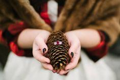 wedding rings - photo by Alicia King Photography http://ruffledblog.com/christmas-tree-farm-wedding-inspiration-with-tradition