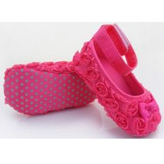 ChineOn Cute Newborn Infant Toddler Girl Baby Rose Style Soft Warm Princess Floral Shoes CackHot Pink 13cm