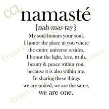 Livraison Gratuite Namaste Définition Citation de Décalque de Vinyle, Yoga Studio Décor Autocollants(China (Mainland))