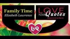 New Author | Family time by Elizabeth Lawrence