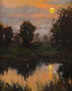 "Jan Schmuckal | ""Halcyon Sunset"" | 20x16 | Original Oil on Canvas | Janus Galleries"