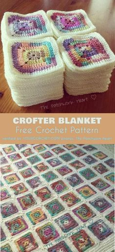 Crochet blanket patterns free 728809152178727816 - Crofter Solid Square Blanket Free Crochet Pattern Source by Crochet Afghans, Motifs Afghans, Afghan Crochet Patterns, Crochet Stitches, Crochet Baby, Knitting Patterns, Knit Crochet, Crochet Square Blanket, Crochet Blankets