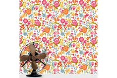 Cape Floral wallpaper by Design Kist Weird And Wonderful, Lighting Solutions, Light Decorations, Surface Design, Memphis, All Design, Cape, Kids Rugs, Quilts