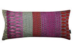 Niskanen 22x10 Silk-Blended Pillow, Pink on OneKingsLane.com