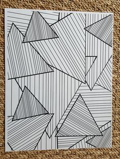 Adult Coloring Page Abstract Striped by SavannahMayDesigns