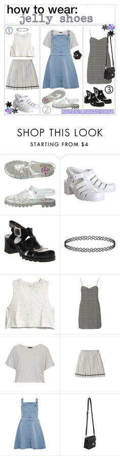 """""""htw; jelly shoes"""" by the-amazing-tip-chickas ❤ liked on Polyvore featuring American Apparel, JuJu, Topshop, H&M, Oh My Love, Proenza Schouler, ASOS and mayrastips"""