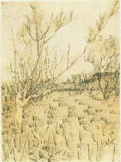 Vincent van Gogh: The Drawings (Orchard with Arles in the Background, Arles: first half April, 1888)