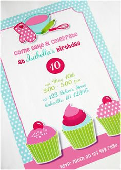 f0d03f3cc8ccb4f4c3da1ba37b008542 baking birthday parties kids birthday party ideas baking birthday party invitations, preppy baking, kitchen,Cake Decorating Birthday Party Invitations