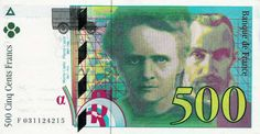 Collection Billet Banque de France - F.76 - 500 francs Pierre et Marie Curie