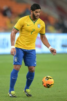 Hulk of Brazil in action during the International Friendly match between South Africa and Brazil at FNB Stadium on March 05, 2014 in Johannesburg, South Africa.