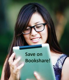 bookshare reading woman library impairment visual dyslexia assistive homeschool struggling readers technology service teaching creative accessible books program