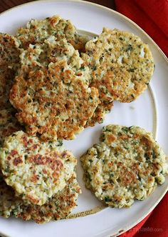 Cauliflower Fritters | Skinnytaste / will try it with other flour combinations. Sounds yummy!