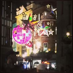 """Carnaby St lights are all, 'In your FACE, crappy London weather.'"" Photo taken by @joelvinglamour on Instagram, pinned via the InstaPin iOS App! http://www.instapinapp.com (12/22/2015)"