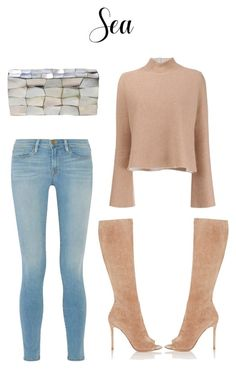 """""""4"""" by lovegoldseas on Polyvore featuring Proenza Schouler, Frame, Gianvito Rossi and Jo-Liza"""