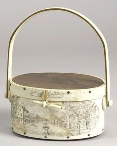 Engraved Whale Bone and Rosewood Nantucket Ditty Box Handbag | Sale Number 2267, Lot Number 75 | Skinner Auctioneers
