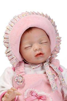 Realistic Sleeping Reborn Baby Dolls Real Looking Lifelike Vinyl Newborn Doll
