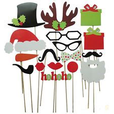 Photo Booth Props Mustache Glasses Snowflake Gift On A Stick Christmas Party