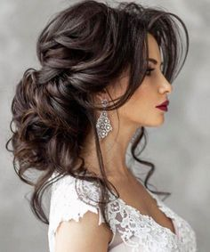 Featured Hairstyle: Elstile www.elstile.ru/; Wedding hairstyle idea.