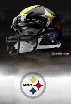This is the most bad ass steeler helmet ever! It would be amazing to see the steelers update their uniforms to this. There is a link here for the rest of the leagues concept helmets, and I got to say it is very awsome. Cool Football Helmets, Steelers Helmet, Steelers Pics, Pittsburgh Steelers Football, Pittsburgh Sports, Best Football Team, Steelers Stuff, Football Uniforms, Baseball Promposals