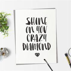 Shine on You #crazy Diamond #fashion #loveyourself #inspo #thinkpositive #fashionlover #motivation