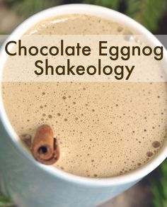 Chocolate Eggnog Shakeology Chocolate Eggnog Shakeology -- Holiday cheer in a cup.with a scoop of Shakeology for good measure. Beachbody Shakeology, Beachbody Blog, Shakeology Shakes, Protein Shake Recipes, Smoothie Recipes, Protein Shakes, Nutribullet Recipes, Healthy Shakes, Healthy Drinks