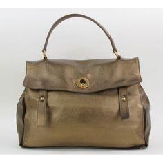 Yves Saint Laurent Bronze Leather Sac Muse 2 Satchel Bag- $749 @ #MoshPosh #YSL